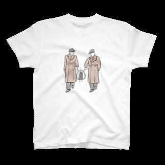 おはぎ&旦那のエージェントに捕まったおっにぎりくん T-shirts