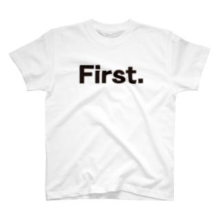 キッズ: 兄弟ナンバリング「1」 T-shirts