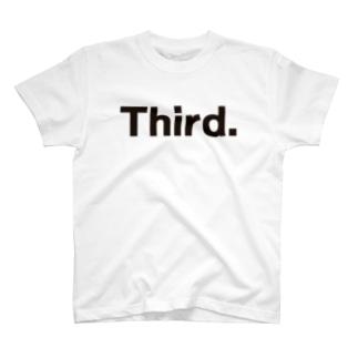 キッズ: 兄弟ナンバリング「3」 T-shirts