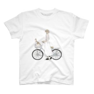 猫とお出かけ T-shirts