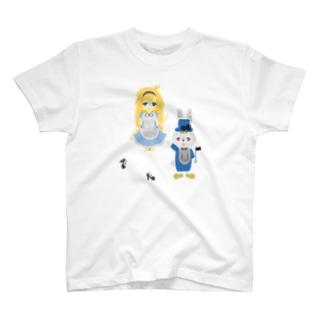 アリス&ホワイトラビット T-shirts