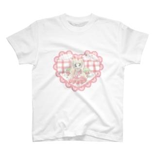 いちごギンガムチェック T-shirts