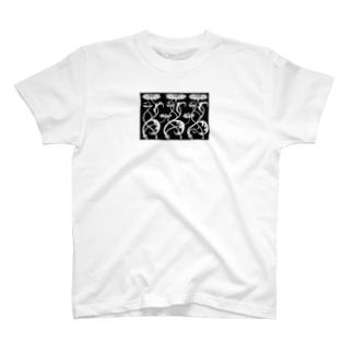 public domain flower motifT  T-shirts
