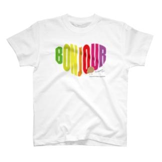 Bonjour kiwi T-shirts
