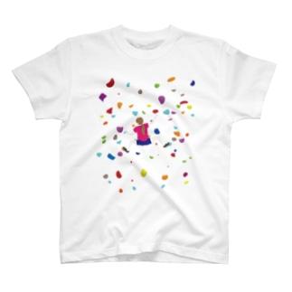 ボルダリングな娘 T-shirts