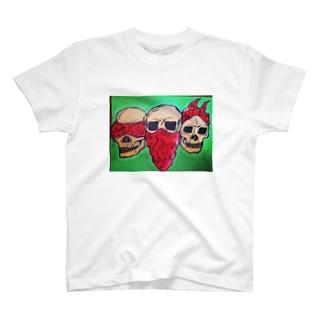 スカル(見ざる言わざる聞かざる) T-shirts