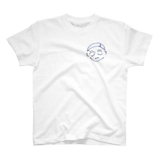 七分三男 怪訝表情 T-shirts
