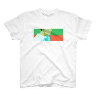 緑とオレンジ T-shirts