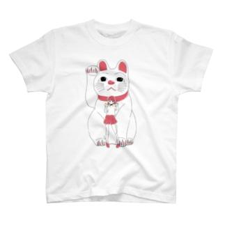 招き猫ガール T-shirts