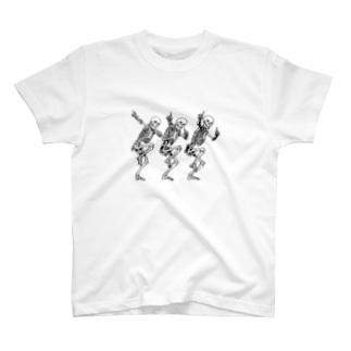 骨のスタンプ T-shirts
