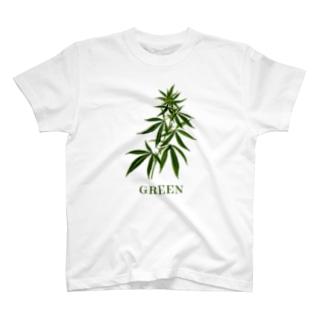 大麻草 Green Tシャツ T-shirts
