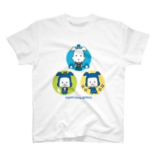 忍者犬&武士犬_集合 T-shirts
