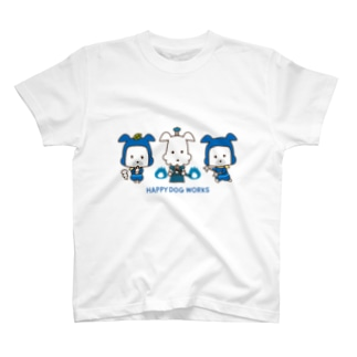 忍者犬&武士犬_整列 T-shirts
