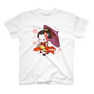舞妓さんスタンプ T-shirts