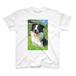 FUCHSGOLDのサントメ・プリンシペの切手:犬切手 T-shirts