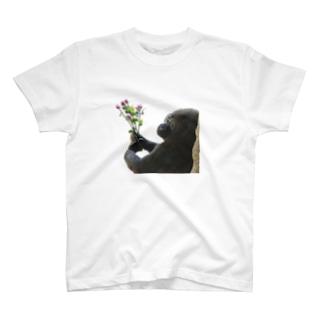 「好きです」 告白ゴリラくん T-shirts