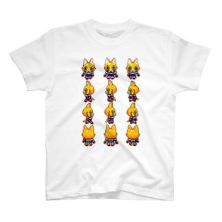 てくてくドットキャットC T-shirts