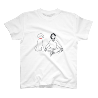 oyumi bedtownのシンプルな犬派の人 T-shirts