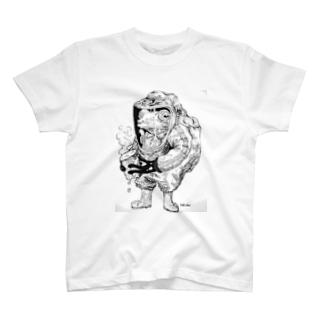 ちょー危険な物を持つカエル T-shirts