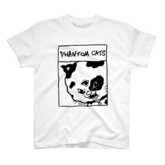 化け猫ドットフィアーフェイス T-shirts