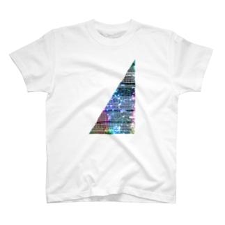 線入り直角三角形 T-shirts