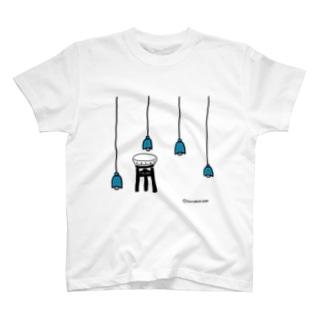 いすにすわりたい あお T-shirts