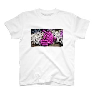 (ゆえ°³°)_( :3 」 )_の勿忘草deはーと T-shirts