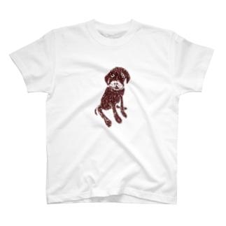 チョコラブデザインTシャツ「それでおすわり?」 T-shirts
