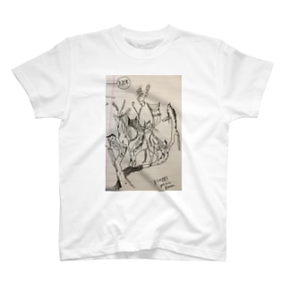 必修科目の時に描いた猫の樹 T-shirts