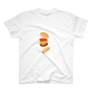 ハンバーガー君 T-shirts