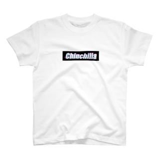 チンチラグリッド黒 T-shirts