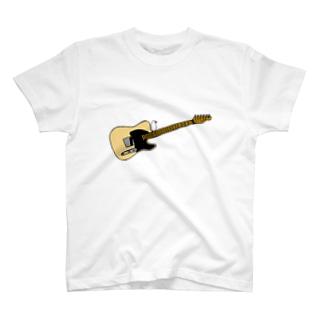 テレキャスターとおすまし文鳥 T-shirts