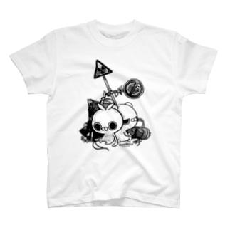 クレイジー闇うさぎ(標識) T-shirts