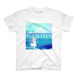 青に咲く少女 T-shirts