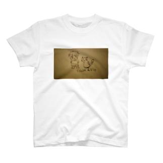 Tsuba&Vio イラストグッズ T-shirts
