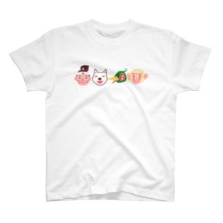 桃太郎と仲間たち T-shirts