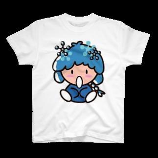 社会人アーティストまえぽんのスノーなぽんちゃん印 T-shirts
