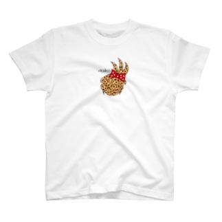 ヒョウ柄の台子 T-shirts