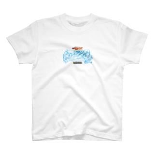 イッポンクヌギスピードウェイのミルキー豊後黒豚×クロスオーバーレブ! T-shirts