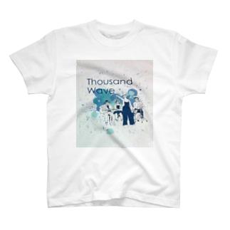 Thousand☆wave4人イラストTシャツ T-shirts