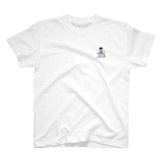冬と雪だるま T-shirts