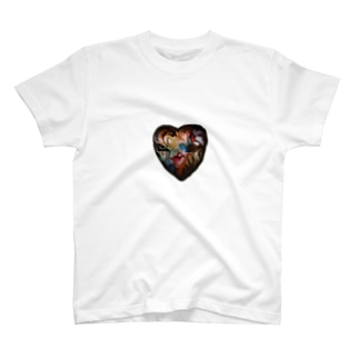24 colors heart T-shirts