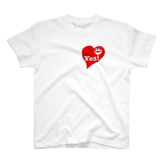 ハート「Yes!」 T-shirts