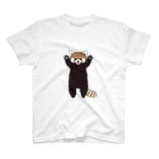 レッサーパンダ威嚇 T-shirts