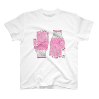 趣味の風景シリーズ「軍手」 T-shirts