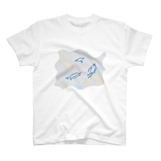 ゆらめく生物 T-shirts