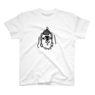 すきま覗き(両面) T-shirts