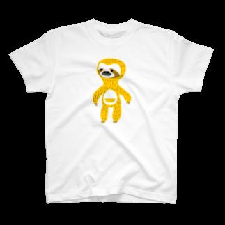 somosomogoodsのナマケモノのヨシオくん T-shirts