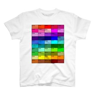カラーチャート50 T-shirts