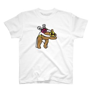 クマレスラー & ウサギレスラー T-shirts